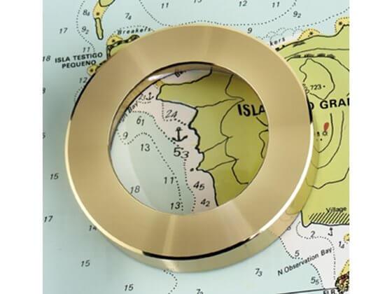 5X Harita Büyüteci - Pirinç Ağırlıklı Görseli