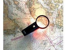 Aydınlatmalı Harita Büyüteci