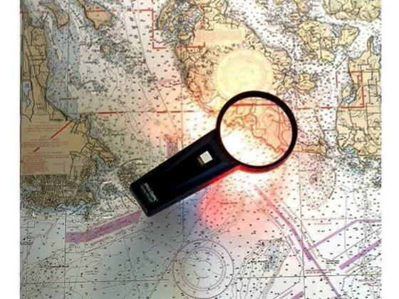 Aydınlatmalı Harita Büyüteci Görseli