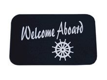 Picture of Paspas - 'Welcome Aboard' - Navy 18x30