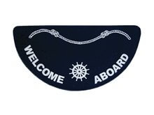 Picture of Paspas - 'Welcome Aboard' - Navy 18x36