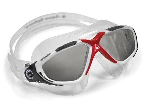 Vista Yüzücü Gözlüğü - Füme Cam/Beyaz Çerçeve Görseli