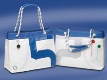 Çanta - Alışveriş - Sea Wave - Beyaz/Mavi
