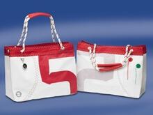 Çanta - Alışveriş - Sea Wave - Beyaz/Kırmızı