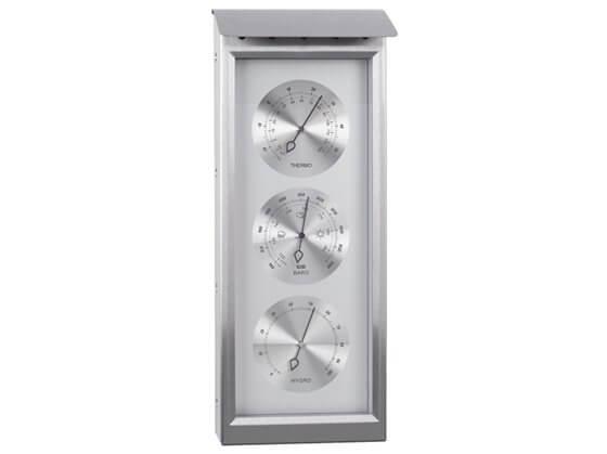 Barometre - Termometre - Higrometre Seti - Paslanmaz Çelik Görseli