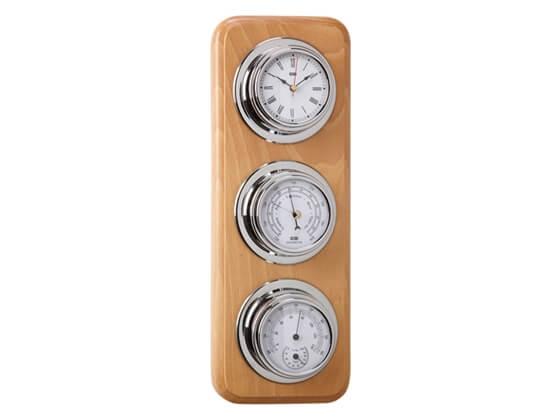 Picture of Saat - Barometre - Termometre - Higrometre Seti - Meşe - Dekoratif Set