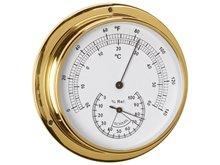 Termometre/Higrometre - Pirinç - 120mm