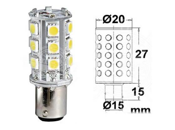 Led - Seyir Feneri - BAY 15D -24V/ 1,8W Görseli