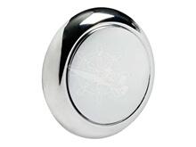 Düğme - Yaylı Kilit için - Krom - Çap 25 mm