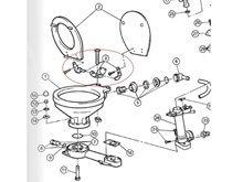 Menteşe Seti - Tuvalet Kapağı için (290/291/59128 )