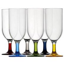 Kadeh - Mini Şampanya - Party - Renkli - 6'lı Paket