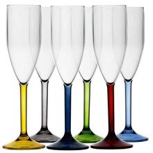 Kadeh - Şampanya - Party - Renkli - 6'lı Paket
