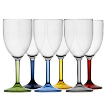 Kadeh - Şarap - Party - Renkli - 6'lı Paket