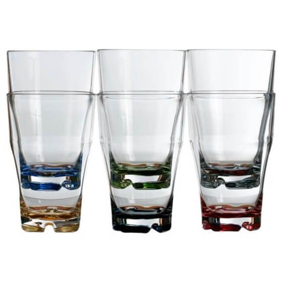Meyve Suyu Bardağı - Party - Renkli - 6'lı Paket Görseli