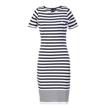 Elbise - Kadın - Selene Stripe Dress - Peacoat/Bright White