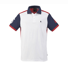 Picture of T-shirt - Erkek - Helsman Polo - White/Peacoat/Red