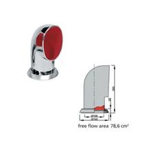 Vetus paslanmaz çelik manika. Tip TOM316 - Kırmızı