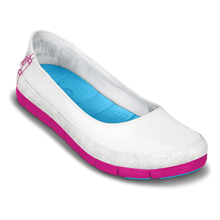 Picture of Terlik - Stretch Sole Flat - Kadın - White/Candy Pink