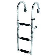 Merdiven - 3 Basamak - Katlanabilir - Paslanmaz Çelik - 670mm
