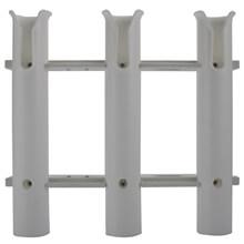 Kamış Tutucu - Üçlü - Plastik - Beyaz