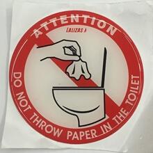 Tuvalete Kağıt Atmayınız