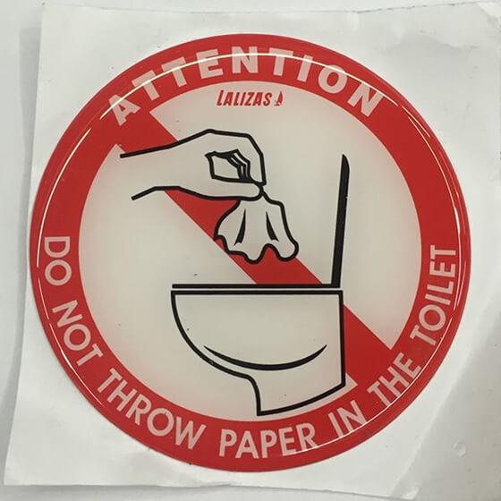 Picture of Tuvalete Kağıt Atmayınız
