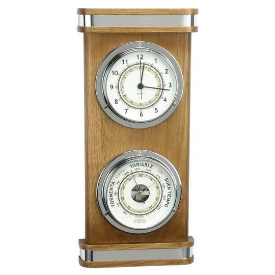 Saat / Barometre - iki Kadranlı Dekoratif Set Görseli
