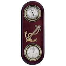 Picture of Barometer / Thermometer / Hygrometer - Two Dials With Anchor