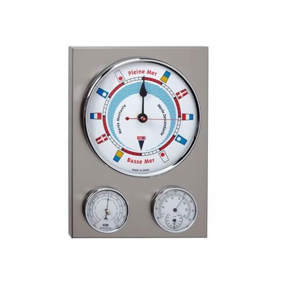 Barometre / Termometre / Higrometre - Bayraklı Kadran Inox Görseli