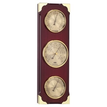Picture of Clock / Barometer / Thermometer / Hygrometer - Walnut Color