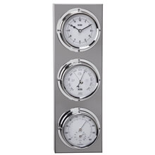 Picture of Clock / Barometer / Thermometer / Hygrometer - Inox
