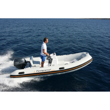 Picture of RIB - Easy LINE - 425 Easy - Light Grey Hull - Black Carbon Textured - Black Upholstery