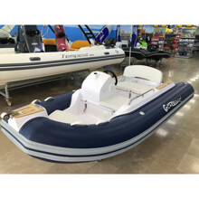 Picture of RIB - Tender LINE - 340 Top - White Hull - Ocean Blue - Blue/Grey Upholstery