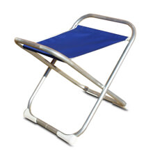 Picture of Folding Aluminum Boat Stool - Blue