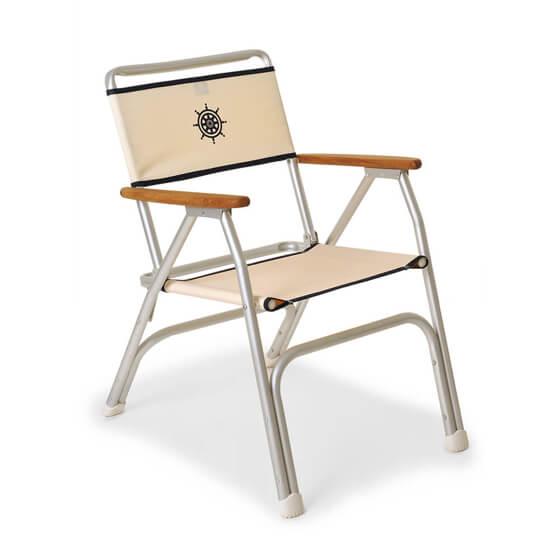 Katlanır Sandalye - Standart - Tik Kolçak - Beyaz Görseli