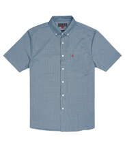 MUSTO EFFORTLESS  SS  SHIRT (MUS.EMSH006) - Erkek - Pale Blue/True Navy
