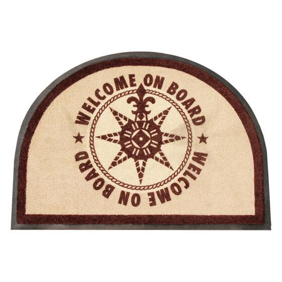 Paspas - Yuvarlak - Welcome on Board - Brown - 70x50 cm Görseli