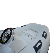 Şişme Bot - Fiber Tabanlı - 380 RIB (Konsol+Koltuk dahil) + DF 30 ATL Dıştan Takma Motor - 4 Zamanlı - Uzun Şaft Görseli