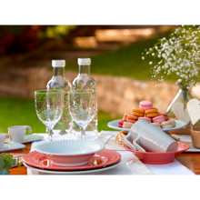 Picture of MELAMINE DESSERT PLATE SERENITY – CORAL, 6 PC