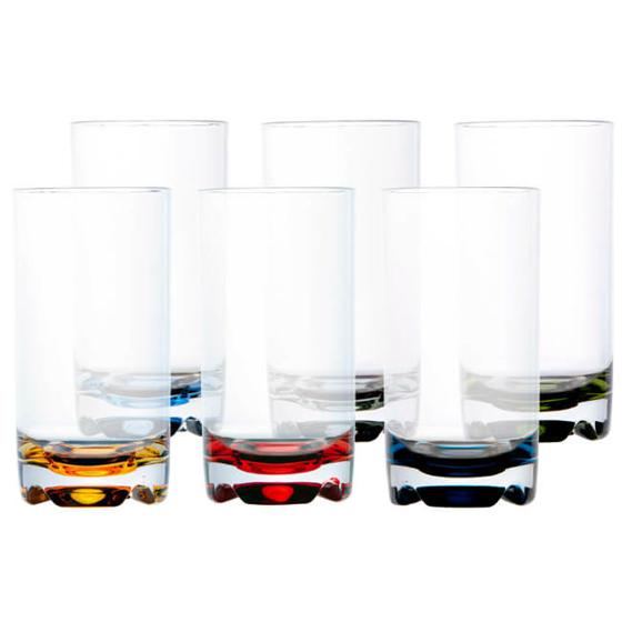 Meşrubat Bardağı - Party - Renkli - 6 Parça Görseli
