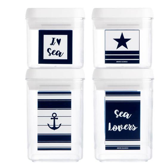 Saklama Kabı Seti - Sea Lovers - 4 Parça Görseli