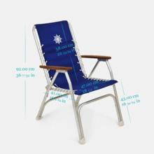 Katlanır Sandalye - Yüksek Sırt - Tik Kolçak - Kırmızı Görseli