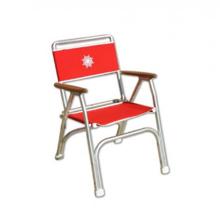 Katlanır Sandalye - Standart - Tik Kolçak - Kırmızı