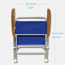 Katlanır Sandalye - Standart - Tik Kolçak - Kırmızı Görseli